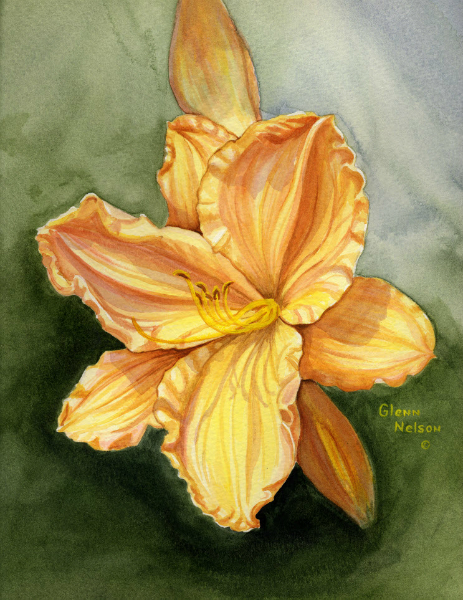 Watercolor Yellow Lily